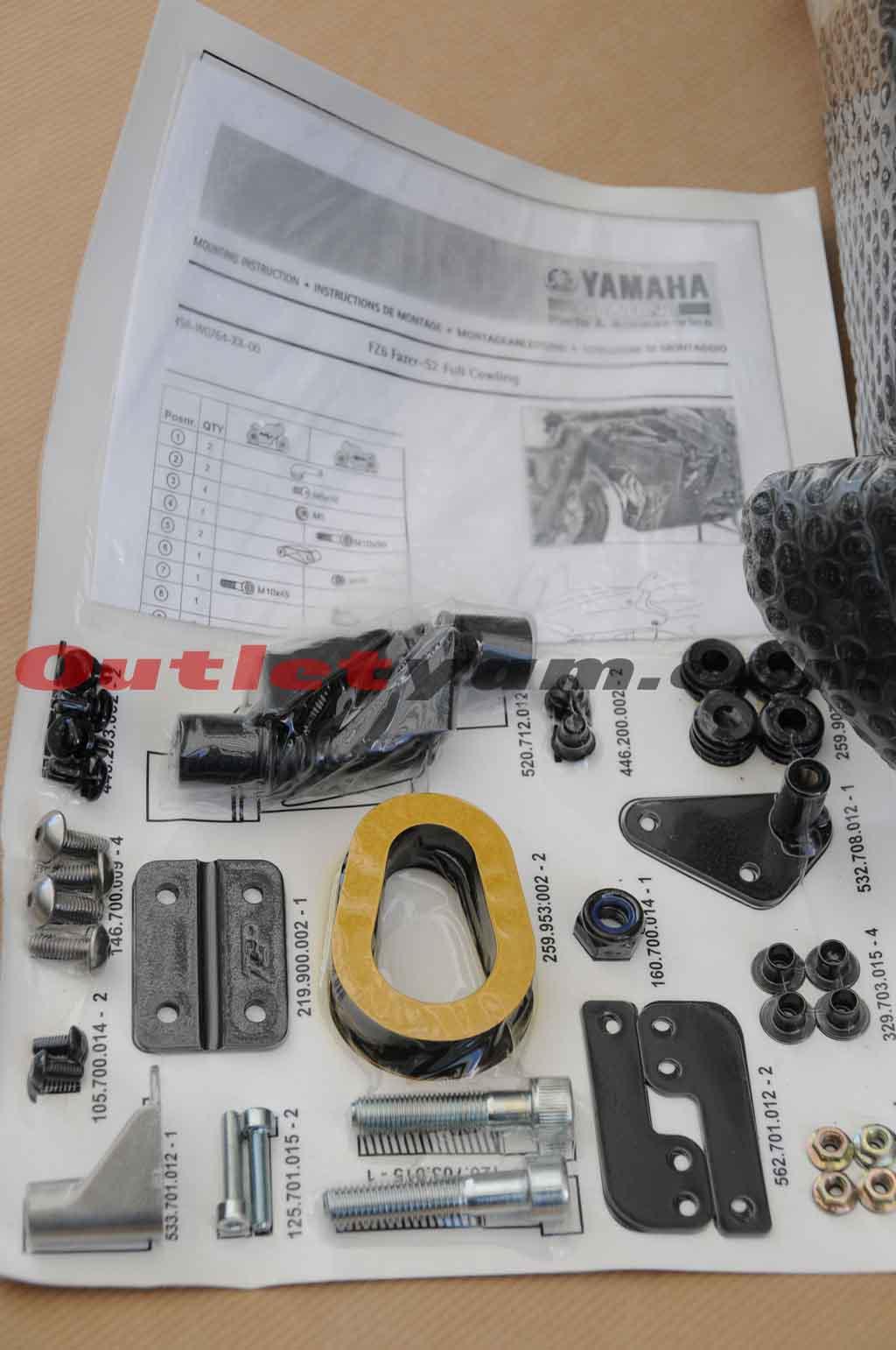 Kit carenado lateral completo - FZ6 / Fazer 600 DSC_6655